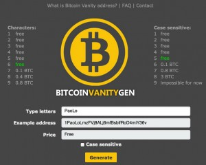 Vanitygen - Indirizzi Bitcoin personalizzati