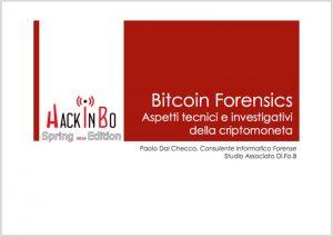 Bitcoin Forensics ad HackInBo