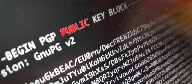 Chiave pubblica PGP/GPG permette arresto nel dark web